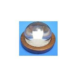 Medi Magnifier 90mm. (4x) + Wood base(walnut)