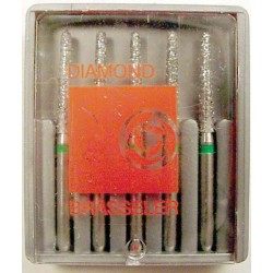 Burs F.G. cutting diamond #6850-016 Lng rnd taper coarse (5pk)