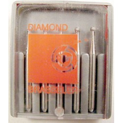 Burs F.G. cutting diamond #801-014 Round med (5pk)