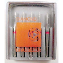 Burs FG finishing dia. #247F-009 Rnd. end taper (5pk.)