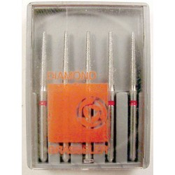 Burs FG finishing dia. #8850-014 Lng. rnd. taper (5pk.)