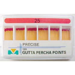 Gutta Percha Points (28mm) color coded #25