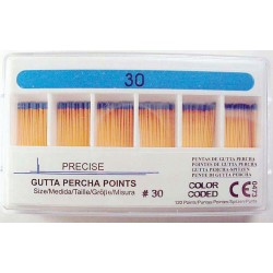 Gutta Percha Points (28mm) color coded #30