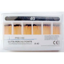 Gutta Percha Points (28mm) color coded #40