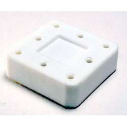Magnetic bur block & lid, small, (white) (hol 8 FG - RA)