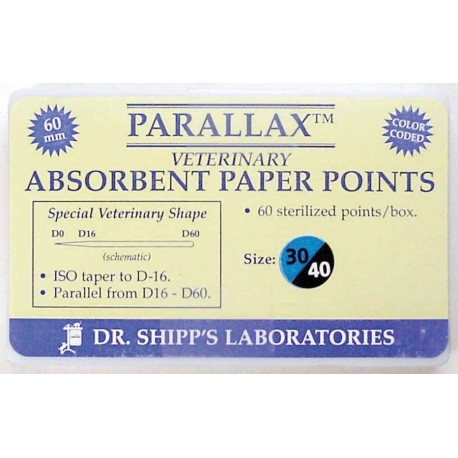 Parallax paper point 60mm Set (#30 #35 #40) 20 ea sz