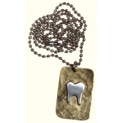 Silver Colored Tooth Necklace