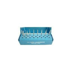 Veterinary bur Set #3 Kit (H.P. carbides) w/alum bur block