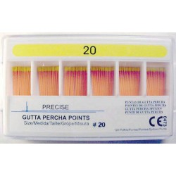 Gutta Percha Points (28mm) color coded #20