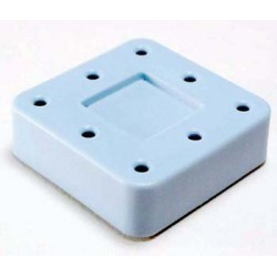 Magnetic bur block & lid, small, (blue) (hol 8 FG | RA)