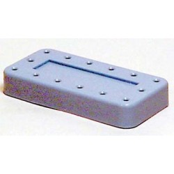 Magnetic bur block & lid - large - (blue) (holds 14 FG | RA)