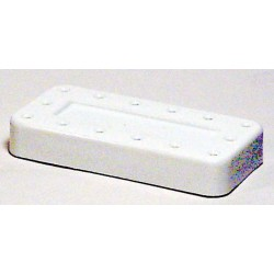 Magnetic bur block & lid, large, (white) (holds 14 FG | RA)