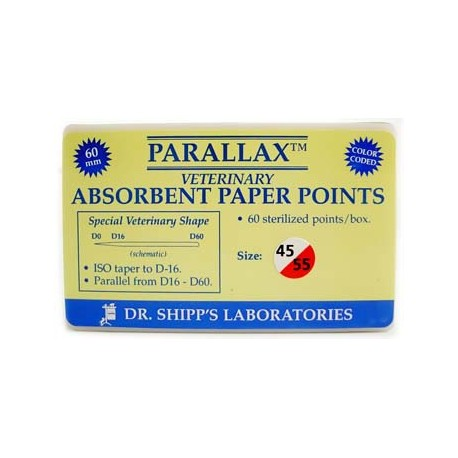 Parallax paper point 60mm Set (#45 #50 #55) 20 ea sz
