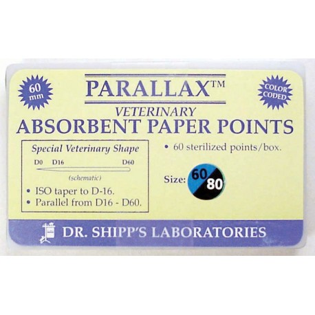 Parallax paper point 60mm Set (#60 #70 #80) 20 ea sz