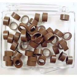 Color coded rings - medium - 50 Brown