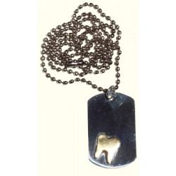 Gold Colored Tooth Necklace